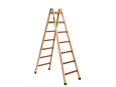 Double-sided stepladder