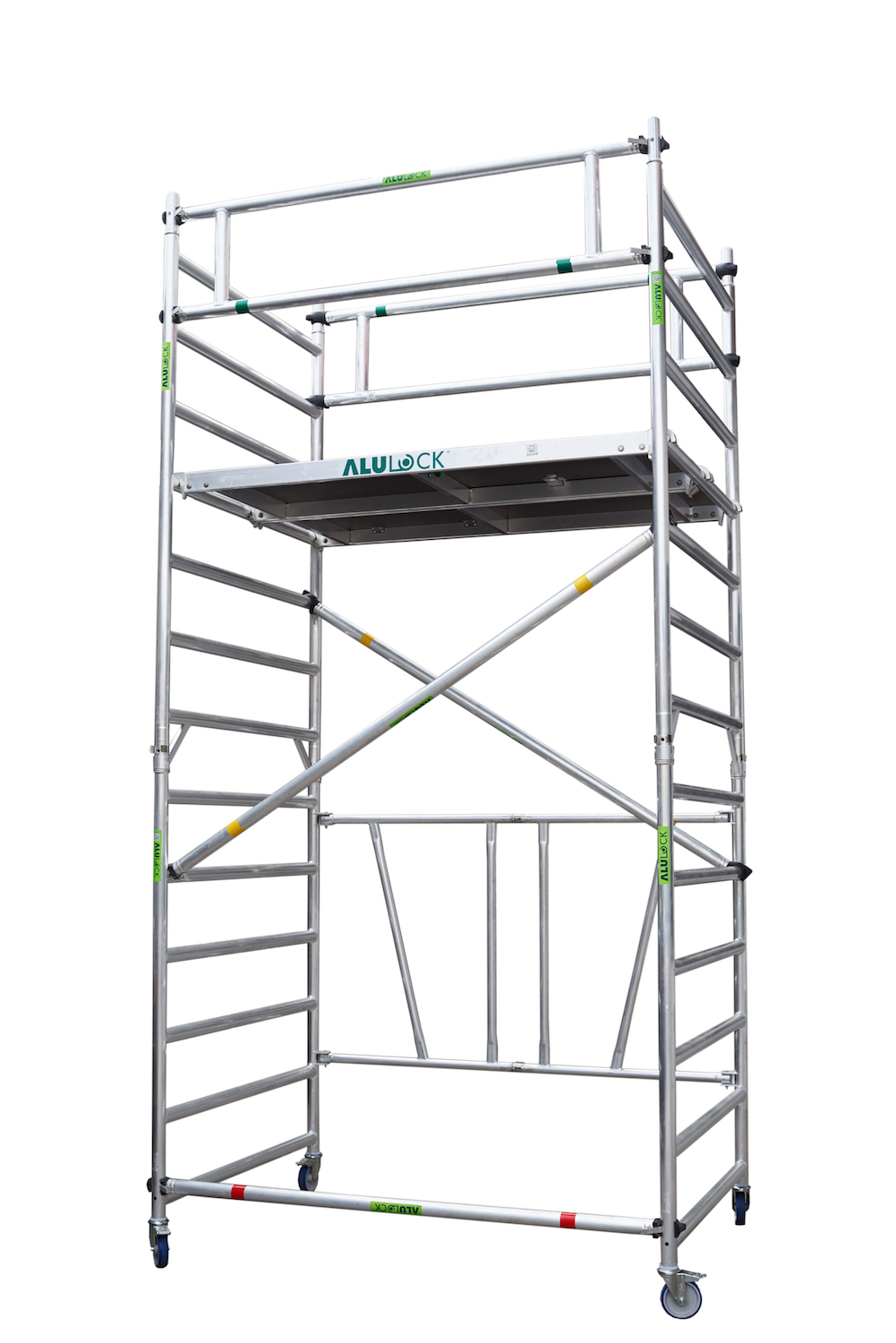 Folding Scaffold 135 x 180 cm. Working height: 4.65 m.