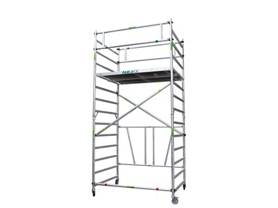 Folding Scaffold 4.65 m. Working height 135 x 180 cm.