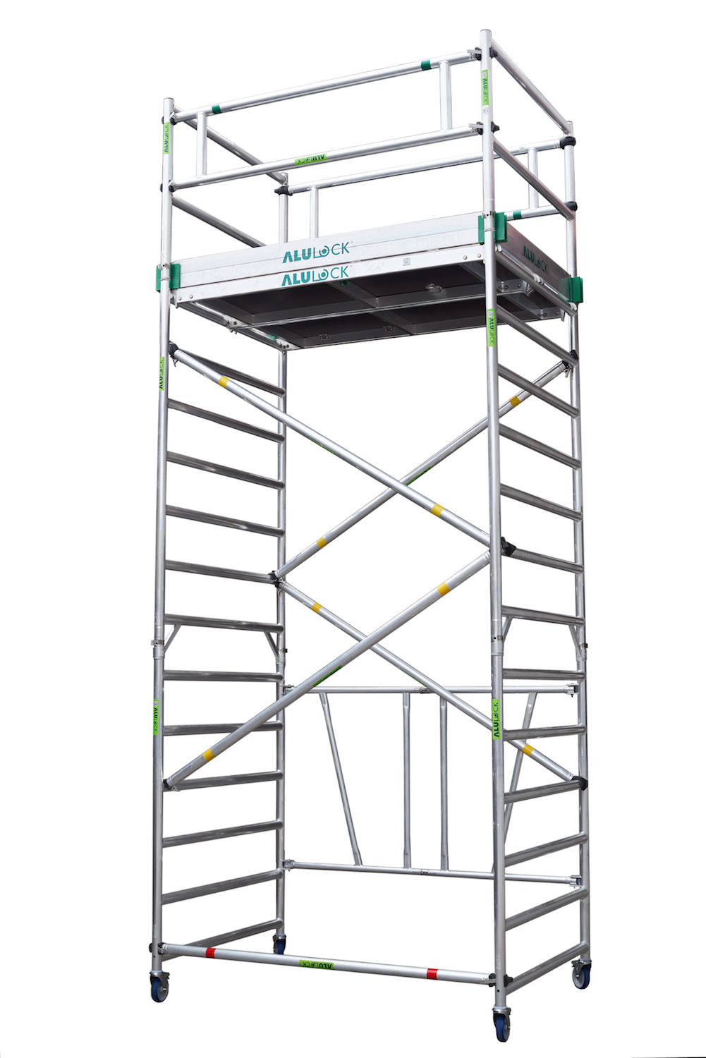 Folding Scaffold 135 x 180 cm. Working height: 5.65 m.