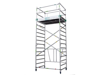 Folding Scaffold 5.65 m. Working height 135 x 180 cm.