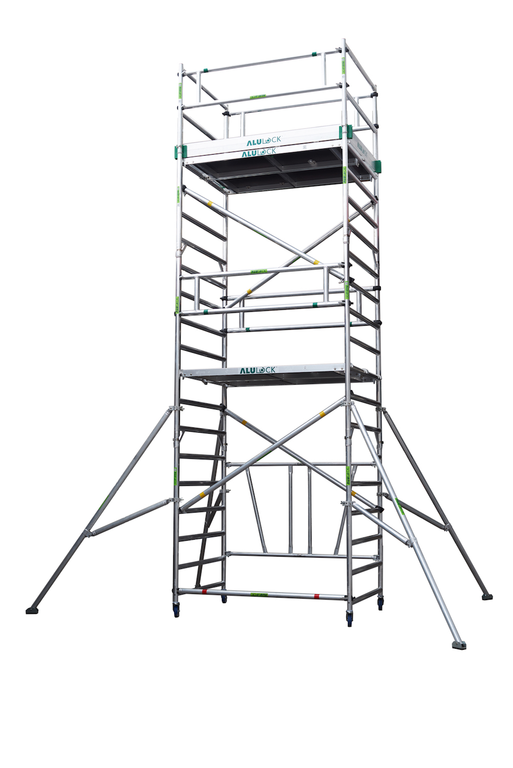 Folding Scaffold 135 x 180 cm. Working height: 6.65 m.