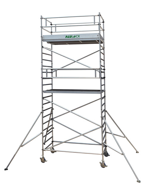 Mobile Scaffold 7.33 m. Working height 135 x 180 cm.