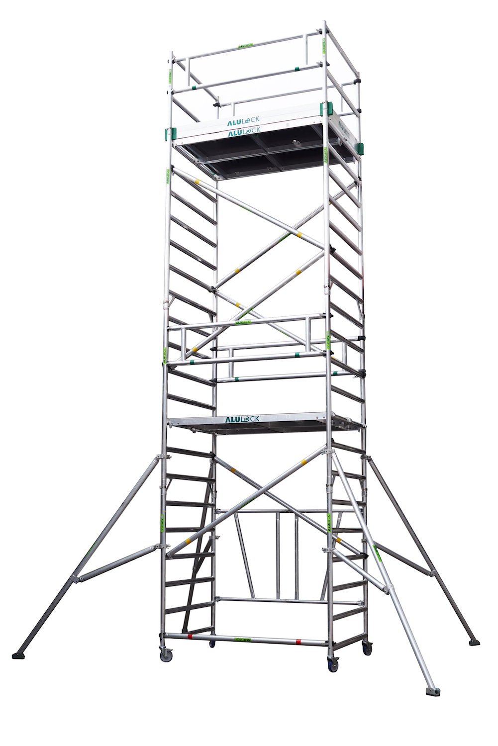 Folding Scaffold 135 x 180 cm. Working height: 7.65 m.
