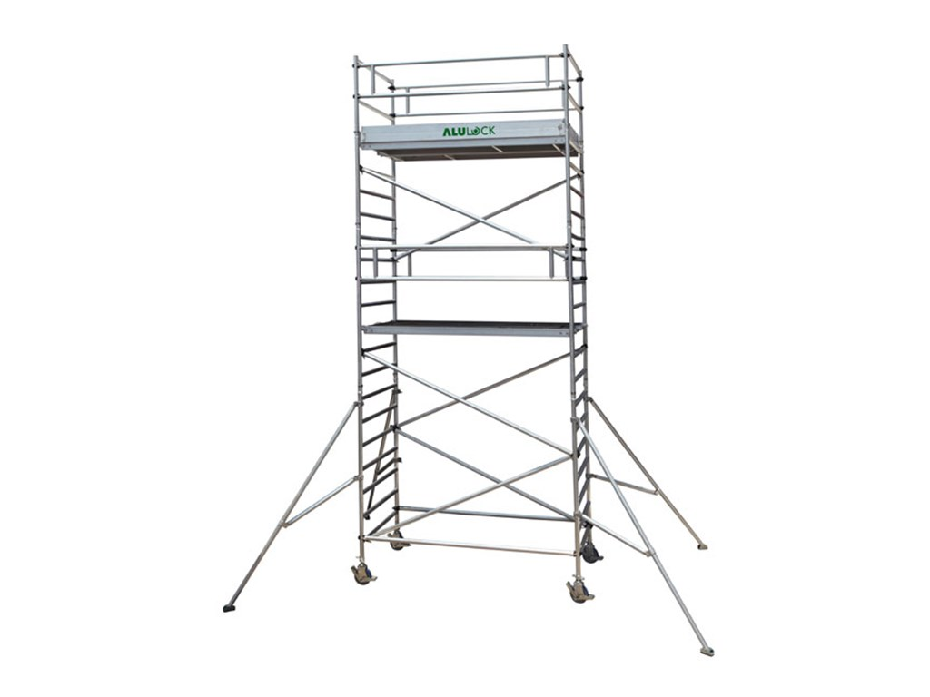 Mobile scaffold 7.33 m. Working height 75 x 180 cm.