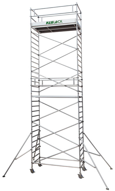 Mobile Scaffold 10.13 m. Working height 75 x 245 cm.