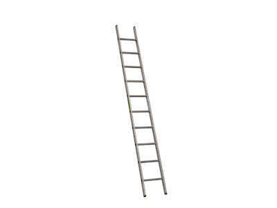 Single aluminium ladder 3 m. 10 steps