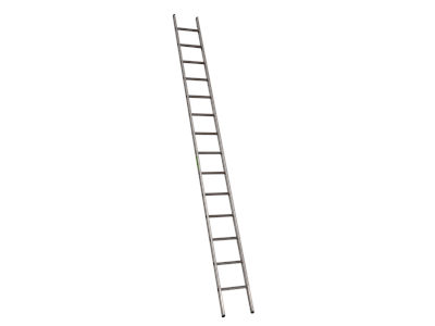 Single aluminium ladder 4,10 m. 14 Steps