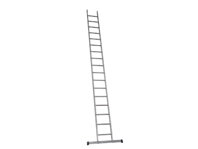 Single aluminium ladder 5 m. 17 Steps