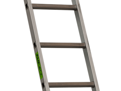 Single aluminium ladder 2,16 m. 7 Steps