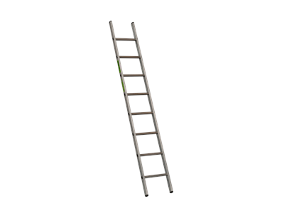 Single aluminium ladder 2,45 m 8 Steps