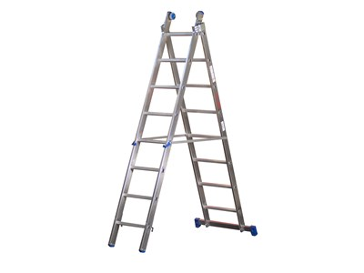 Combination ladder 2 x 13 rungs 7,00 m.