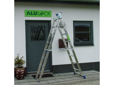 Combination ladder 2 x 8 rungs 4,20 m.