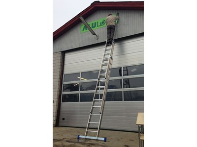 Combination ladder 3 x 10 rungs 7,50 m.