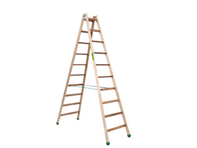 Wooden trestle ladder 2 x10 steps SUPER PROFF