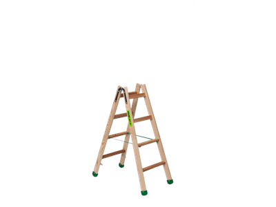Wooden trestle ladder 2 x 4 steps SUPER PROFF