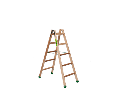 Wooden trestle ladder 2 x 5 steps SUPER PROFF