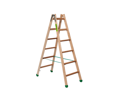 Wooden trestle ladder 2 x 6 steps SUPER PROFF
