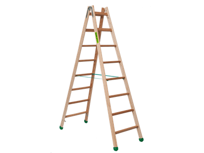 Wooden trestle ladder 2 x 8 steps SUPER PROFF