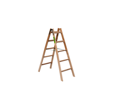 Wooden trestle ladder 2 x 5 steps BUDGET