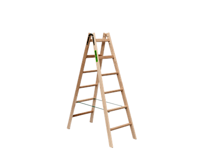 Wooden trestle ladder 2 x 6 steps BUDGET