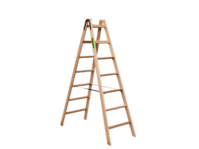 Wooden trestle ladder 2 x7 steps BUDGET