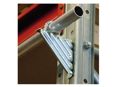 Angle bracket for storage racks