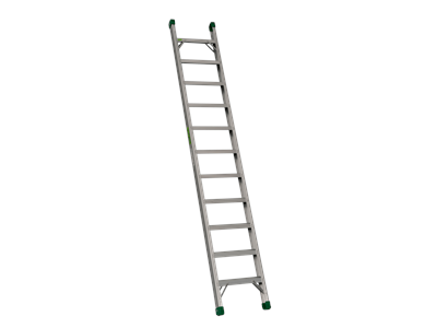 Single ladder. 80 mm deep rungs 11 steps 3 m.