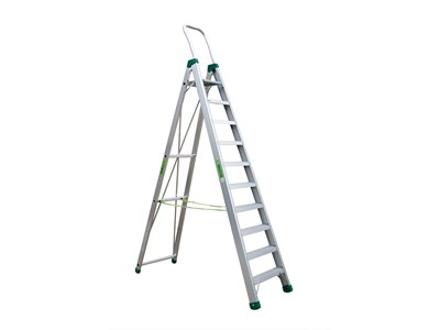 Aluminium stepladder 10 steps SUPER PRO