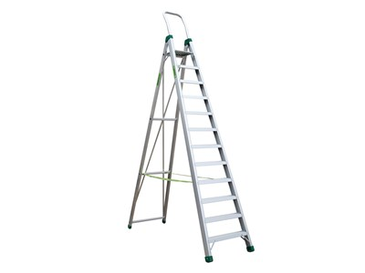 Aluminium stepladder 12 steps SUPER PRO