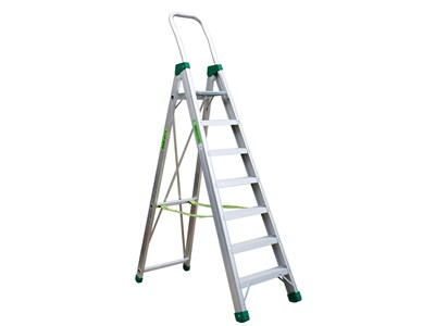 Aluminium stepladder 7 steps SUPER PRO