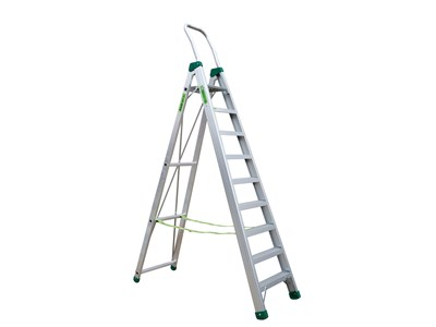 Aluminium stepladder 9 steps SUPER PRO