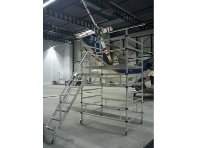 Helicopter lightweight scaffolding