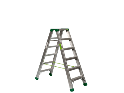 Aluminium trestle ladder 2 x 6 steps. SUPER PRO