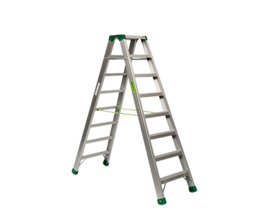 Aluminium trestle ladder 2 x 8 steps SUPER PRO